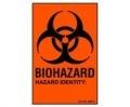 Biohazard Warning/Hazard Identification Label